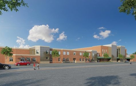 A rendering of what Lynbrook High School will look like after renovations