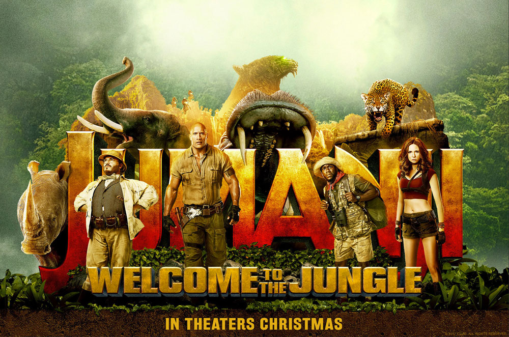 Movie poster for the Jumanji movie.