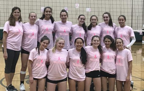 Girls' Volleyball Wins Dig Pink Game