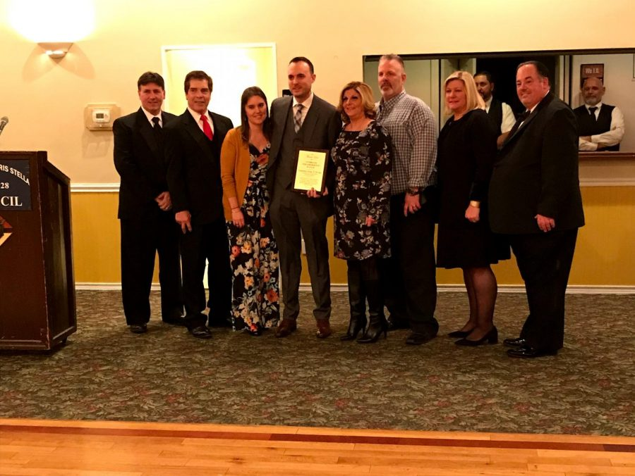 Mike Davies and Danielle DiGiuseppe, founders of the Lynbrook Neighborhood Watch, Community Group of the Year