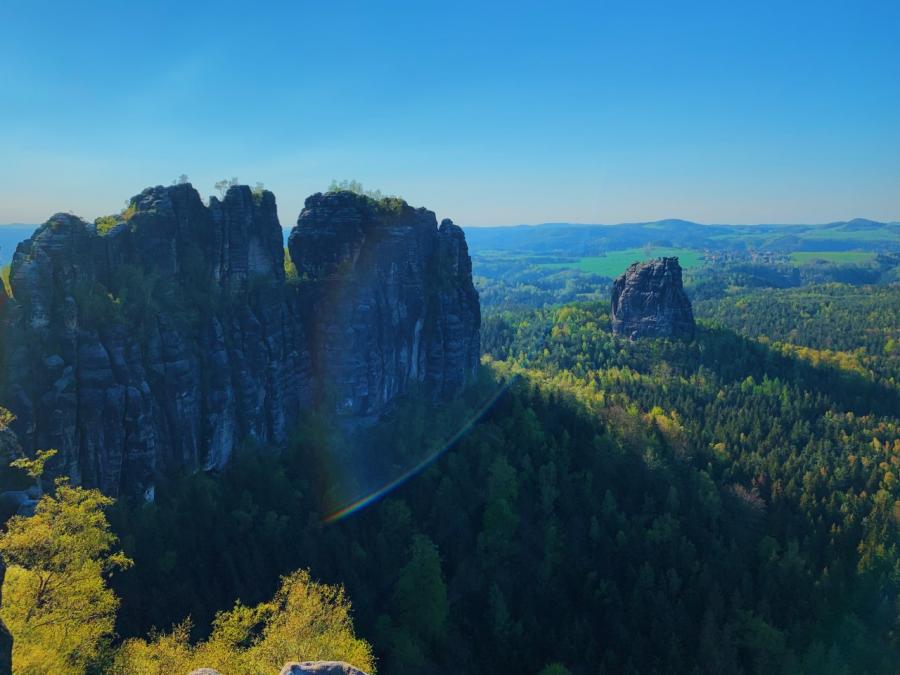 Appreciating Earths beauty: view from a spring break hike in Bad Schandau, Germany.