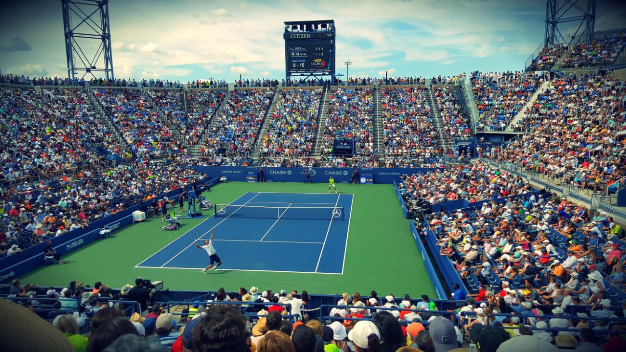 The US Open at Arthur Ash Stadium