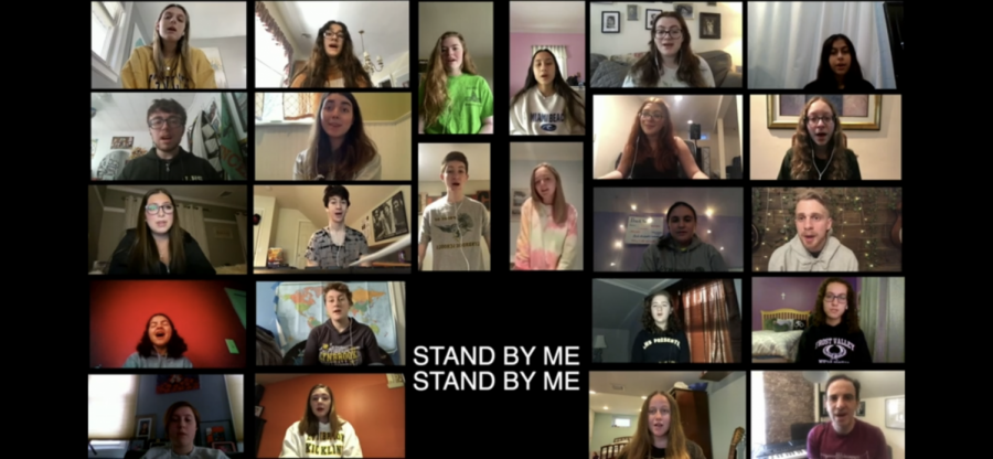 LHS+Chorus+students+sing+Ben+E.+King%27s+%22Stand+By+Me%22+as+a+tribute+to+essential+workers