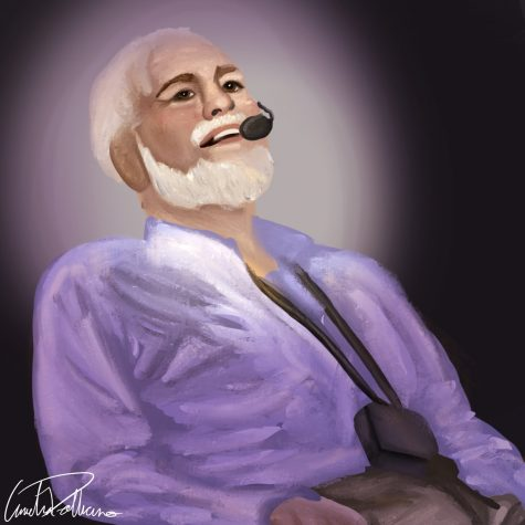 An illustration of Chris Pendergast, an ALS advocate who recently passed from the disease.