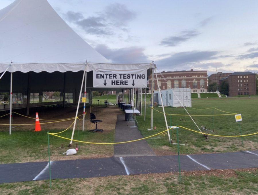 A+COVID-19+testing+center+at+Wesleyan