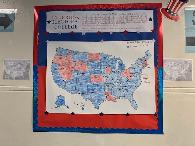 The LHS Electoral College map showing how the majority of each class, represented by a state, voted.