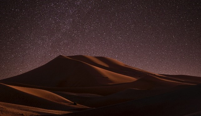 A desert scene such as the one Mandalorian takes place in