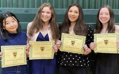 The Research Owls team; from left to right: Manaka Ogura, Victoria Martorano, Elizabeth DiFiore, Kate Dooling