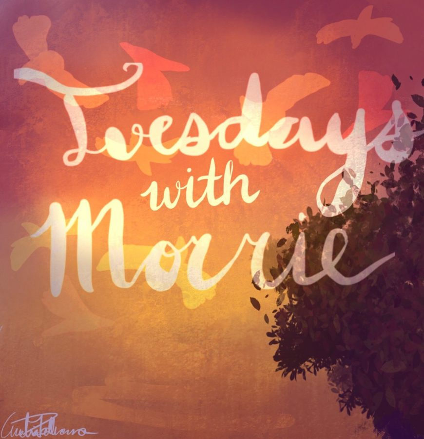 Tuesdays with Morrie tells the story of a man who visits his former college professor who suffers from ALS and learns many lessons from him.
