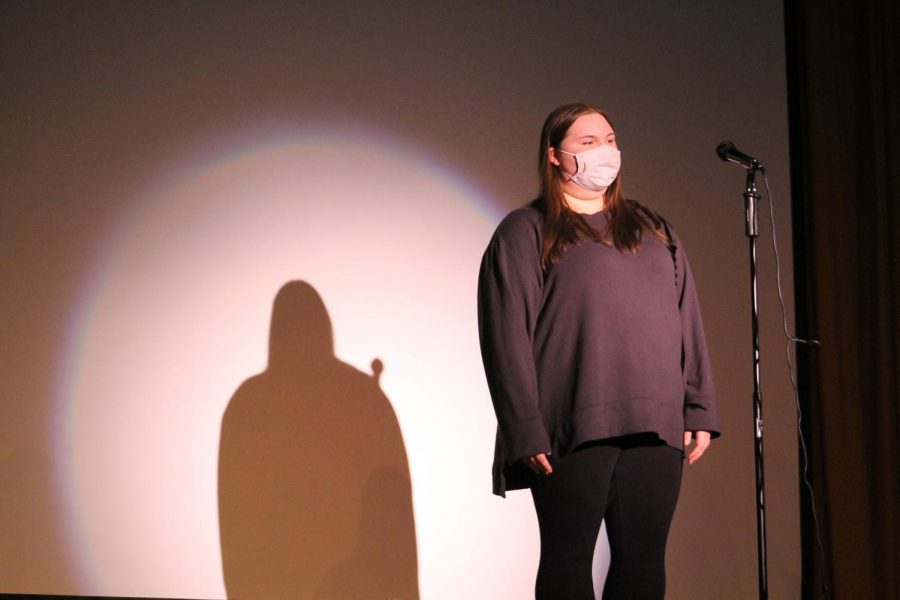 Grace Benedict performs for LHS