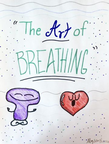 An illustration representing a closer look at the art of breathing.