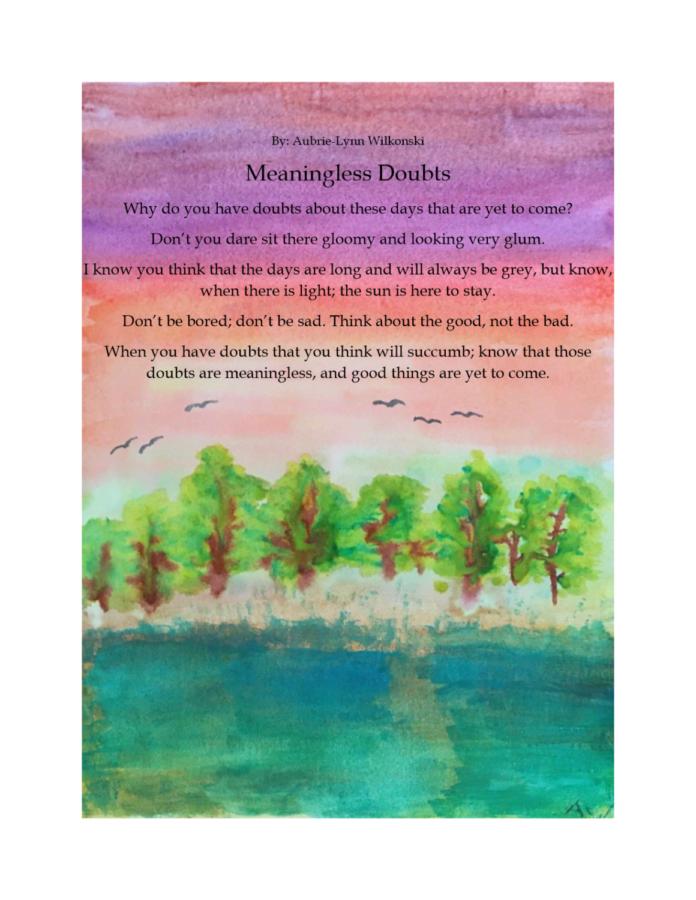 A poem by Aubrie-Lynn Wilkonski in response to