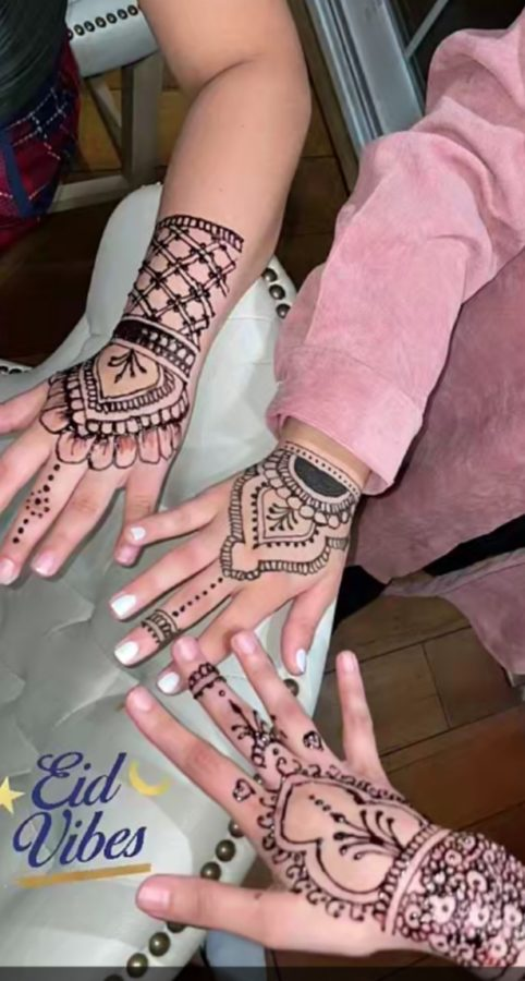 The henna tattoos my family and I had done in NYC.