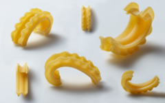 The new pasta shape, cascatelli, invented by Dan Pashman.