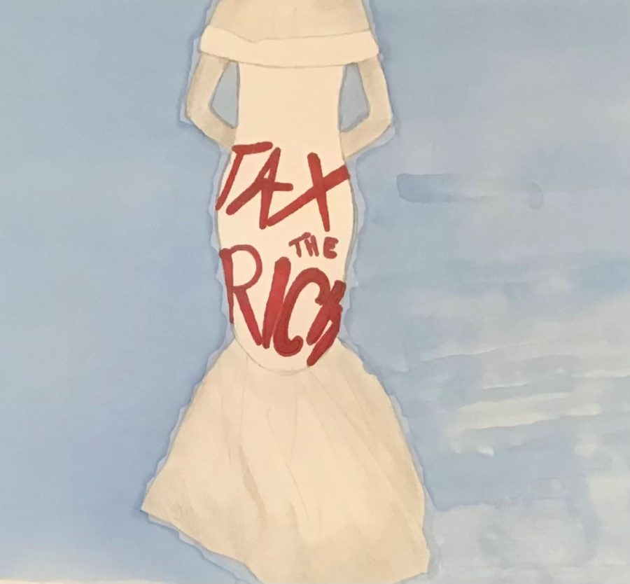 AOCs dress to this years Met Gala read Tax the Rich.